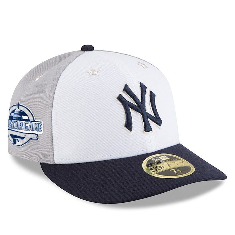 New York Yankees New Era 2018 MLB All-Star Game On-Field Low Profile  59FIFTY Fitted Hat – White Navy 9b2db7955a52