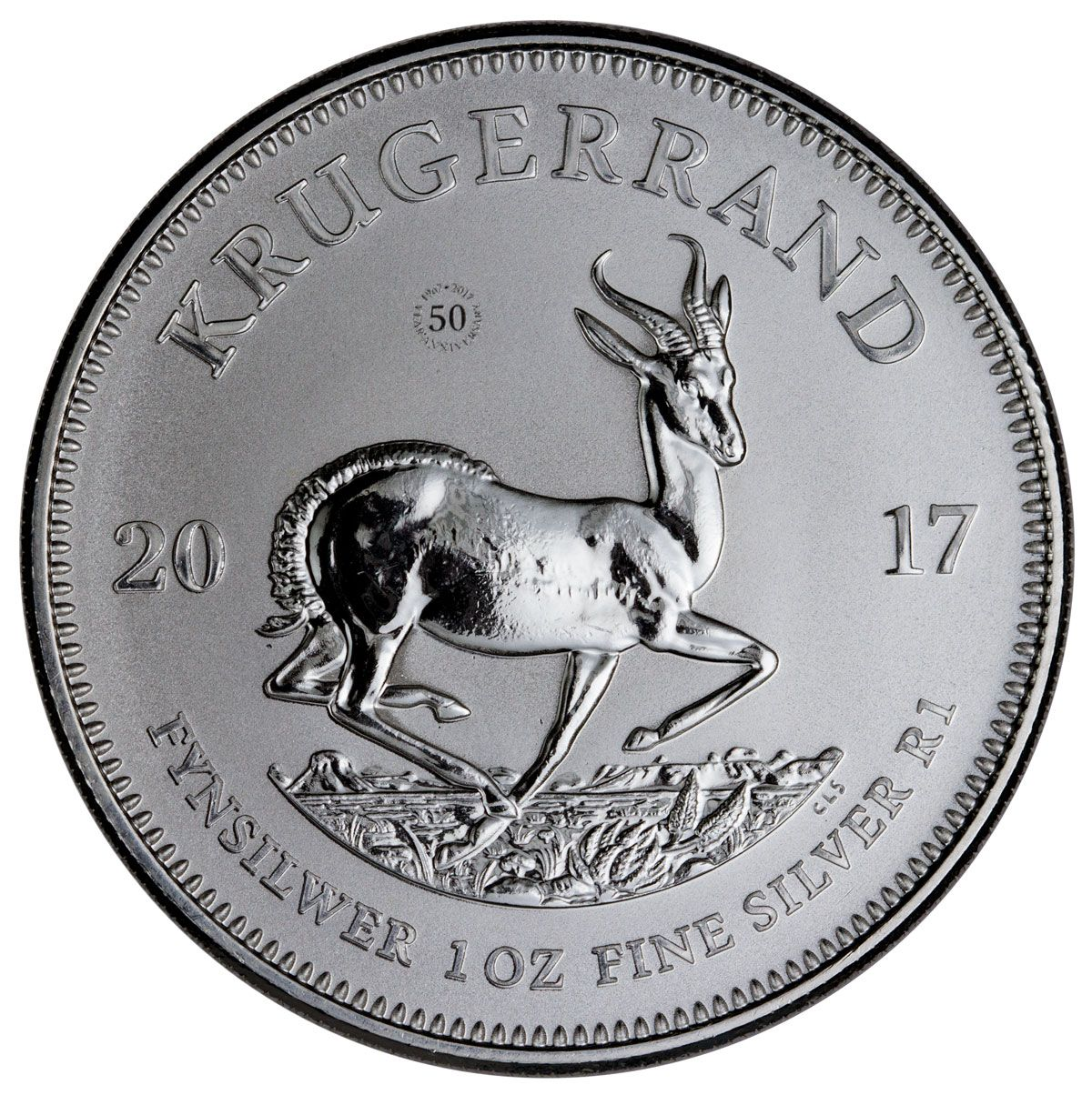 2017 South Africa 1 Oz Silver Krugerrand Gem Premium Uncirculated Silver Krugerrand