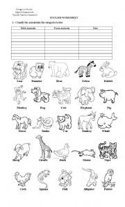 Classifying Animals Worksheets | ... advertise here vocabulary ...