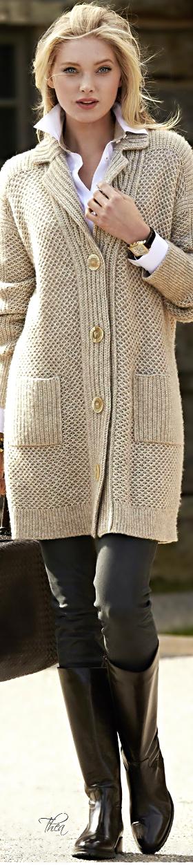 Style In The City ● Elsa Hosk ~ Tнεα.  Via @theatoria. #knits #streetstyle