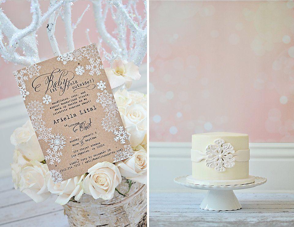 A Magical Winter Wonderland First Birthday Party | Birthdays, Winter ...