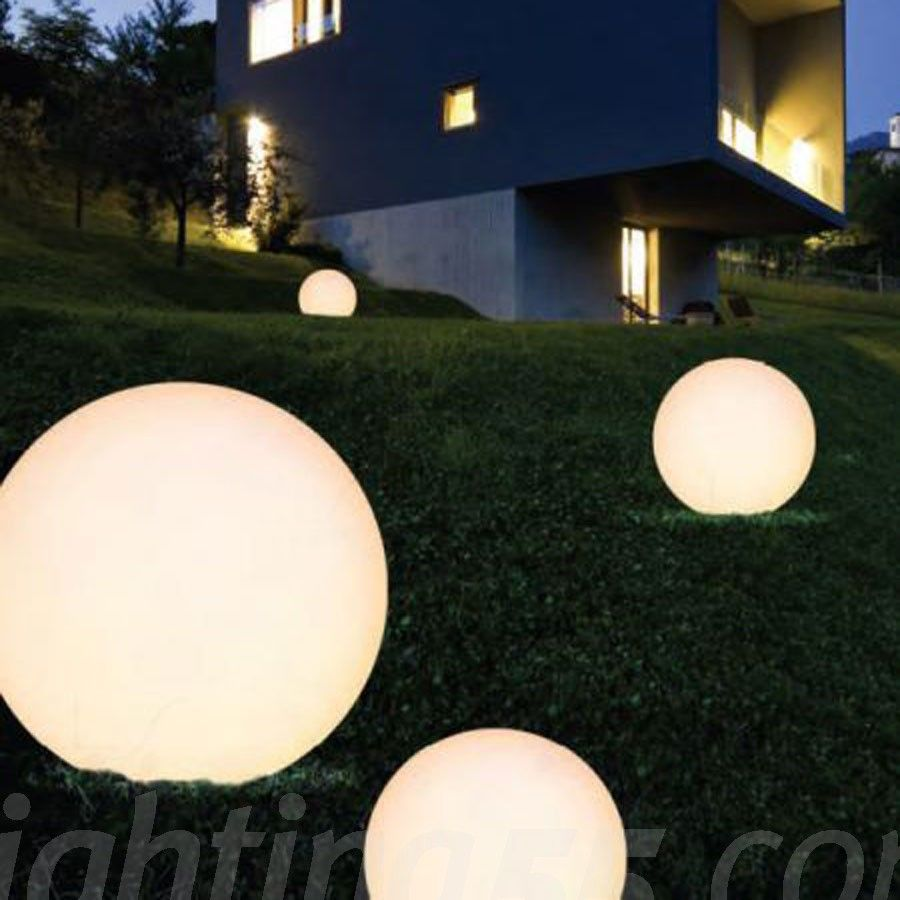 Large Spherical Lights On Ground Google Search Led Outdoor Landscape Lighting Outdoor Floor Lamps Garden Lamps