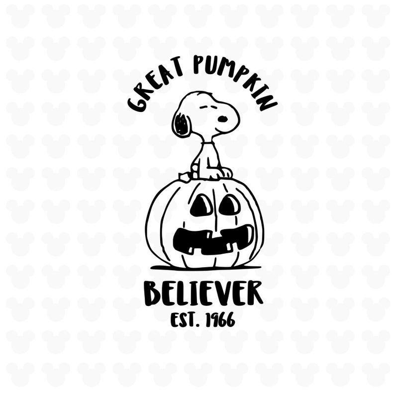 Great Pumpkin Believer Svg Png Studio 3 Peanuts Svg Snoopy Svg Image 0 Great Pumpkin Charlie Brown Halloween Silhouettes Disney Halloween