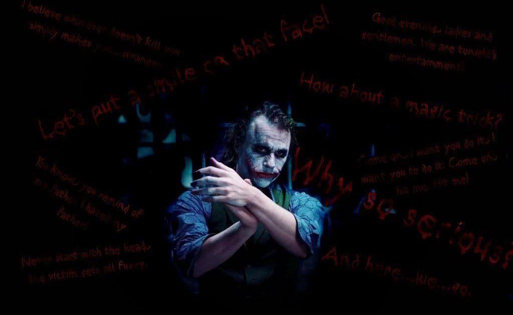 Menakjubkan 16 Gambar Joker Quotes Keren Di 2020 Heath Ledger