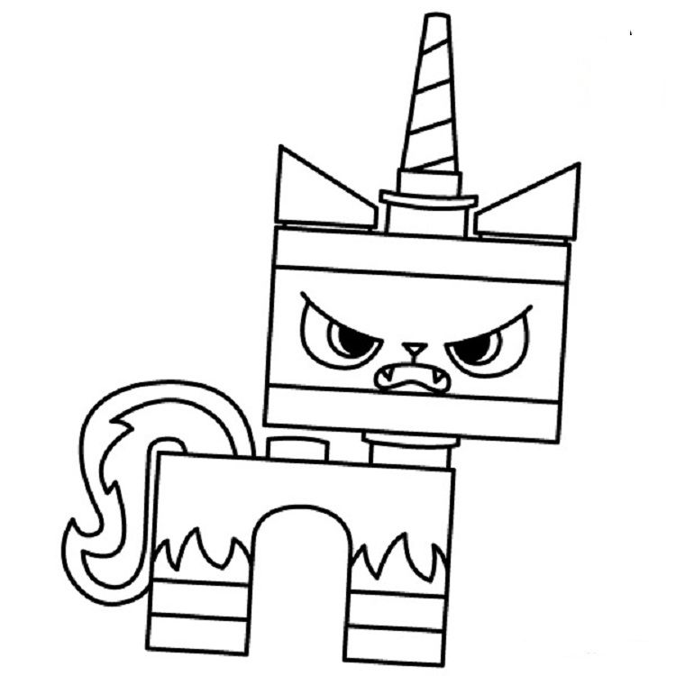 Angry Unikitty Coloring Pages Lego Movie Coloring Pages