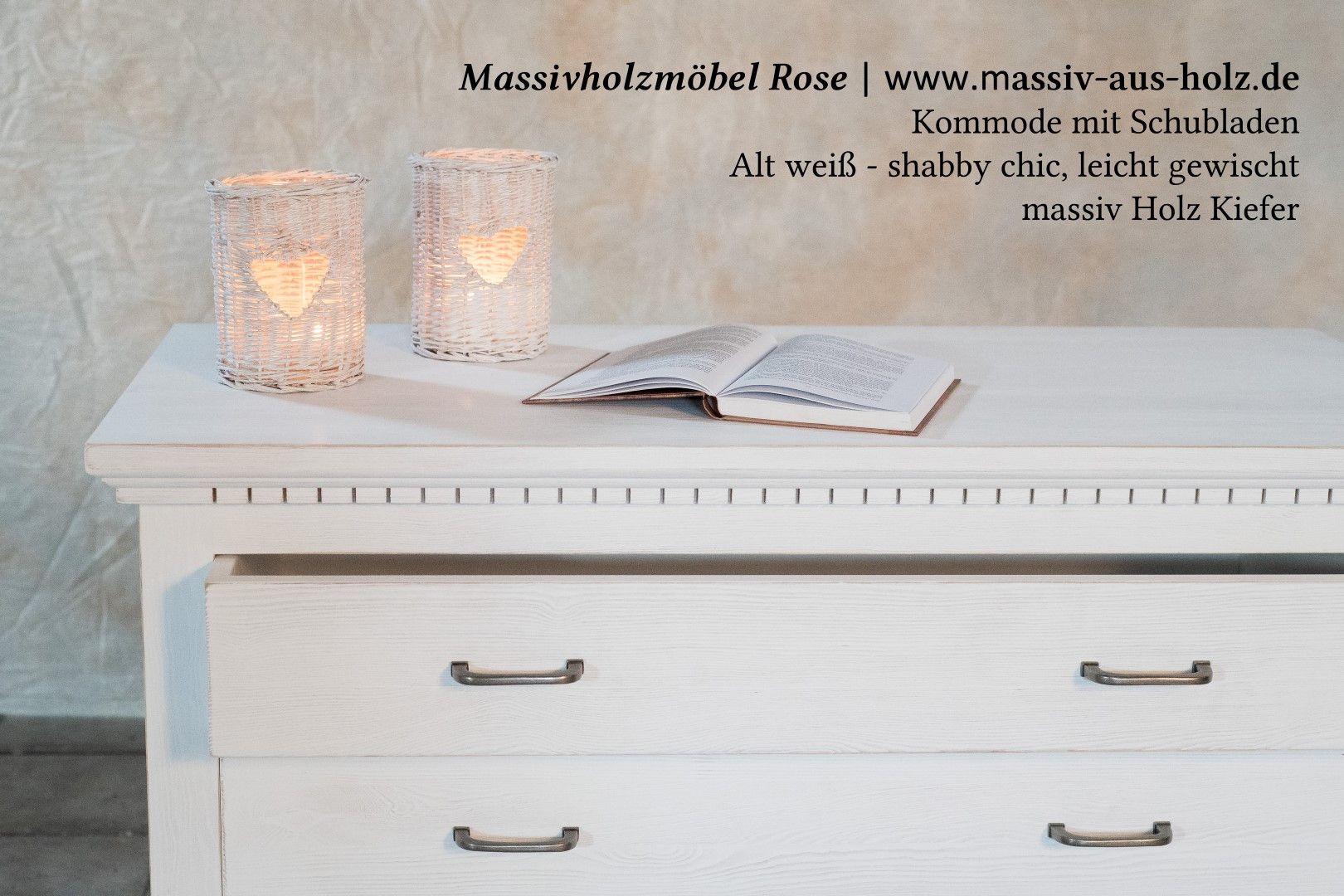 Exquisit Massiv Aus Holz Referenz Von #weiße #kommode Mit #schubladen - #habby #chic