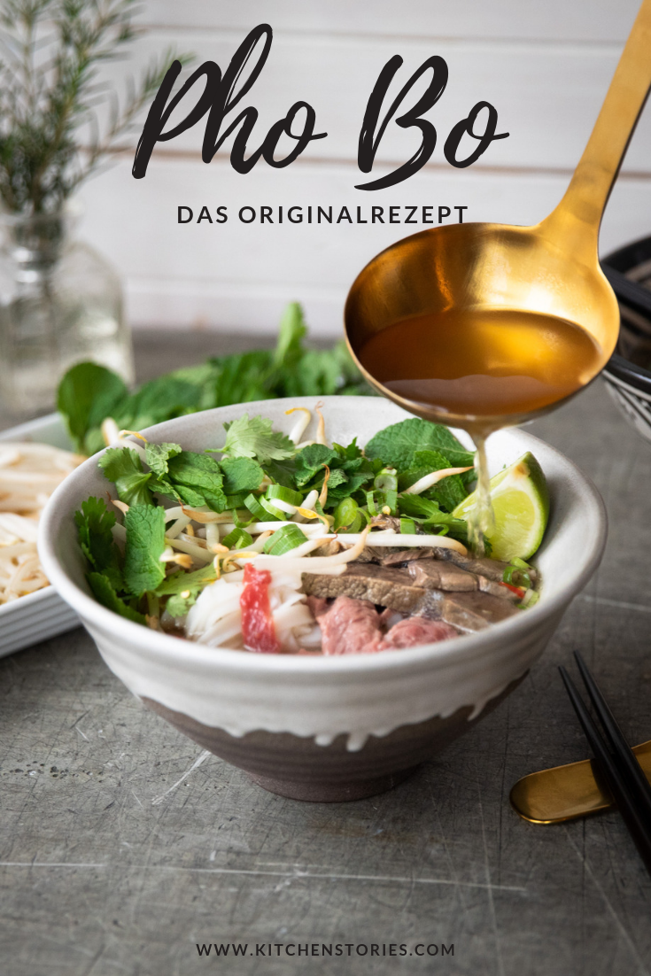 Pho (Reisnudelsuppe mit Rindfleisch)   Rezept mit Video   Kitchen Stories