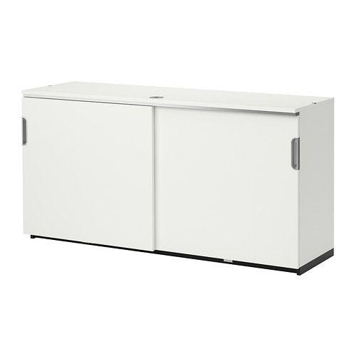 Galant élément à Portes Coulissantes Blanc Ikea Bureau
