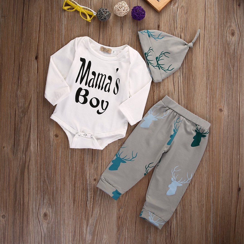 Nettes Baby Mädchen Junge Tops Body + Deer Hosen Outfits Kleidung Set: Amazon.de: Bekleidung