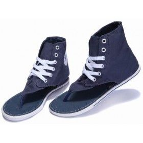 f5e950bd4d7ae6 Converse Roman Thong Sandals Navy Blue Chuck Taylor All Star Womens Textile  Shoes Hi Tops  shoes  - EUR€47.49   zeloe.com