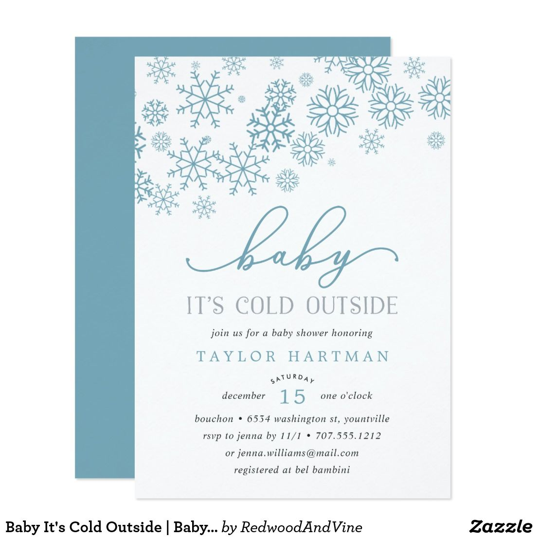 Baby It\'s Cold Outside | Baby Shower Invitation Brrr! Frosty chic ...