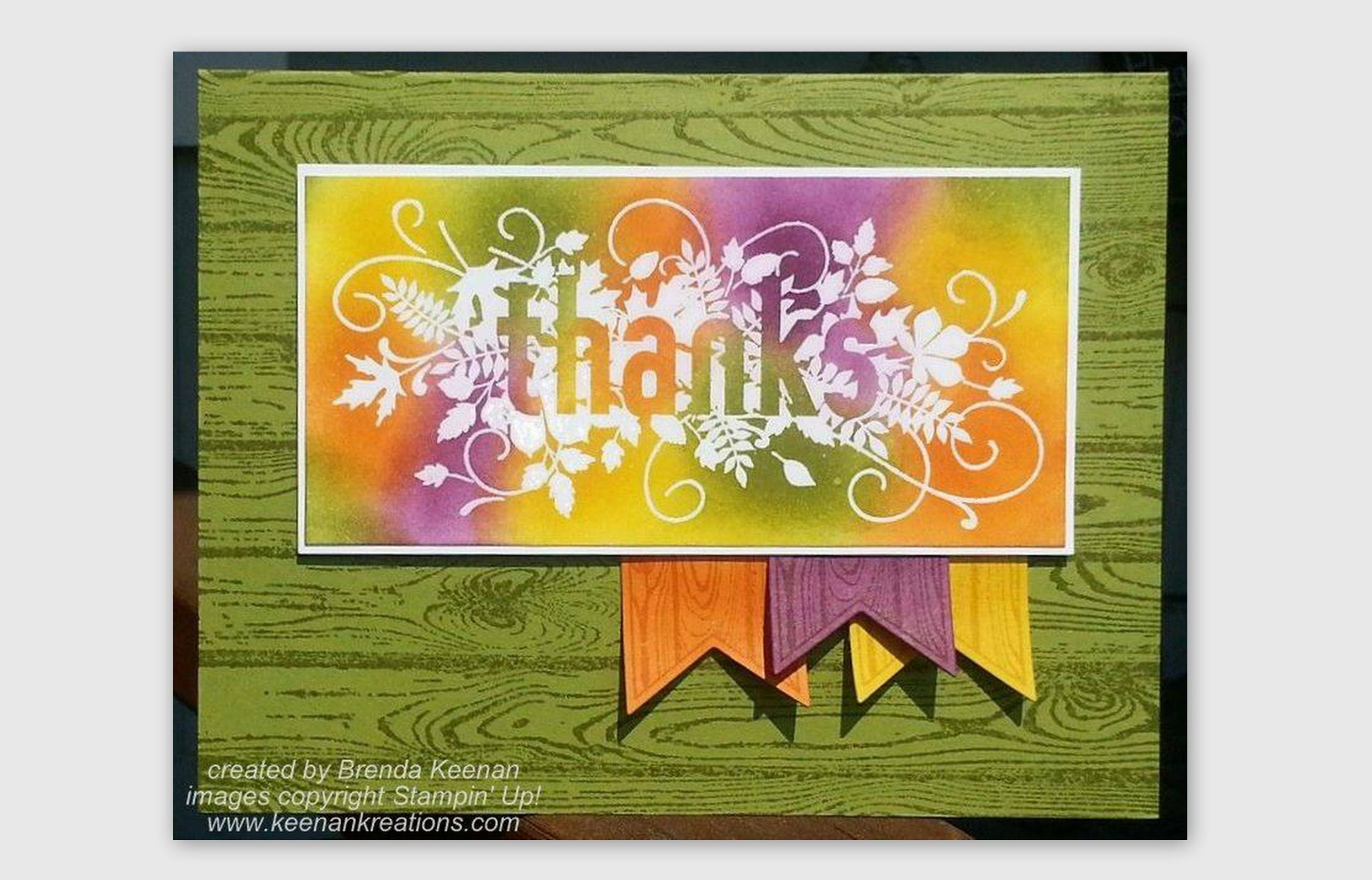 http://www.keenankreations.com/ This card uses the new Seasonally Scattered stamp set from the 2014 Holiday Catalog from Stampin' Up! You can purchase these ...
