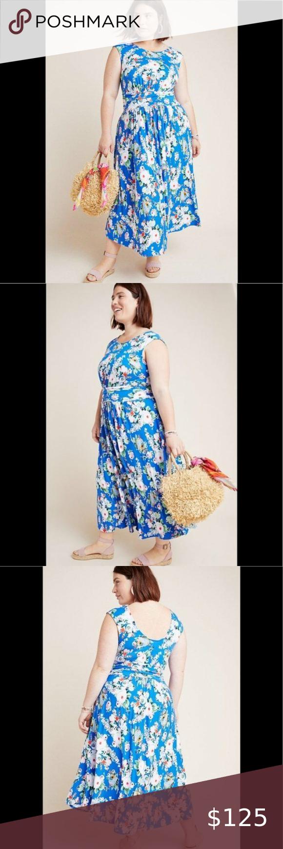 Nwt Anthro Maeve Kyla Floral Maxi Dress 3x Floral Maxi Dress Floral Print Dress Floral Maxi [ 1740 x 580 Pixel ]