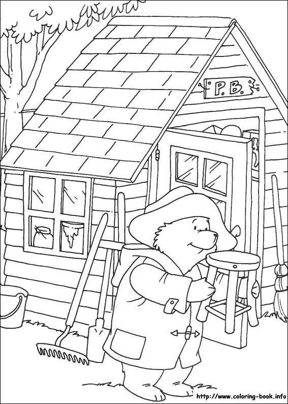 Paddington Bear coloring picture Lots of coloring pages at this site ...
