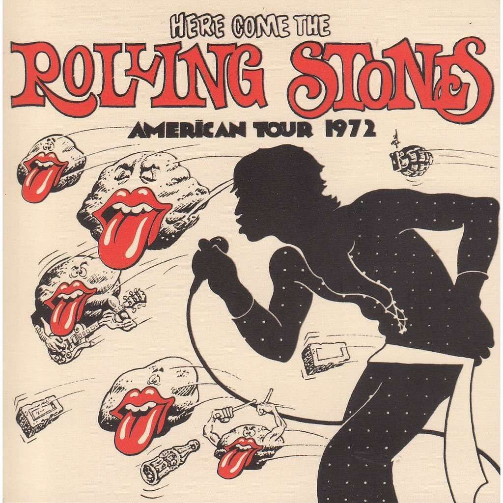 American Tour Poster 1972 Therollingstones Tour America Usa Live 1970s Rolling Stones Album Covers Rolling Stones Poster Rolling Stones Albums