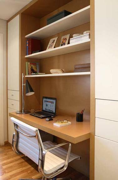 Pin de Paula Emanoela em quarto estudo Escritório em Casa, Decoraç u00e3o escritório e Casa móvel -> Decoração De Escritório Residencial