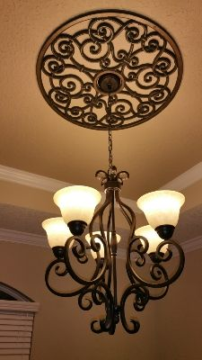 Ceiling Treatment Medallions Wrought Iron