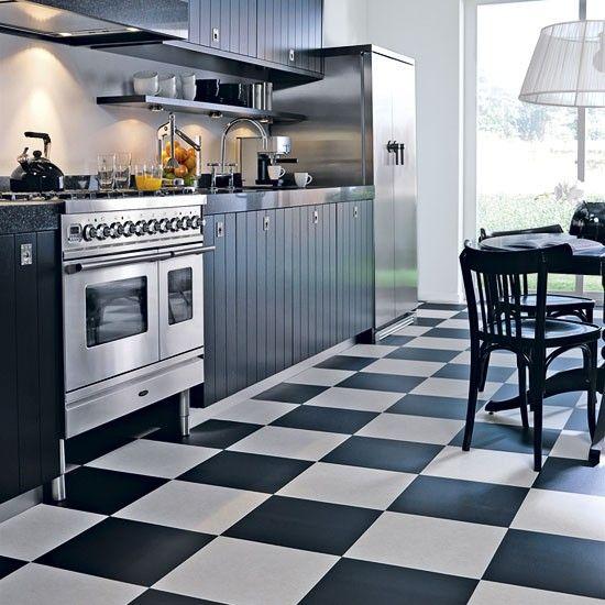 Amazing Best Images Black And White Flooring Ideas| Black White Kitchen Design U0026 Decor  Ideas Pictures