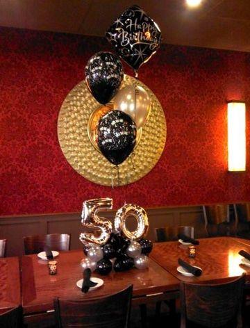 Una decoracion de globos para 50 a os original pinterest for Decoracion con globos 50 anos
