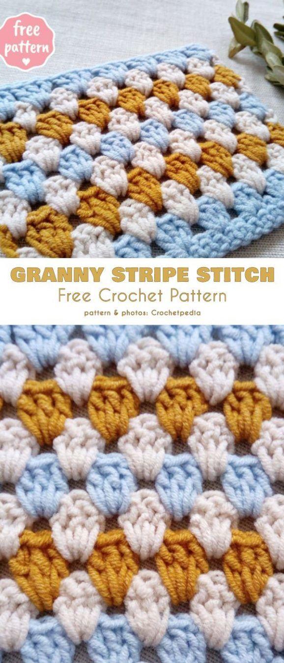Granny Stripe Stitch Free Crochet Pattern