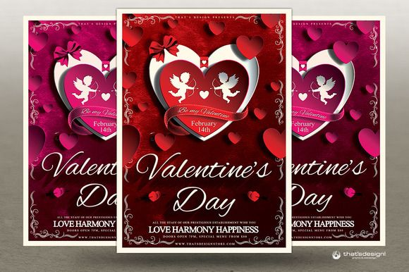 Valentines Day Flyer Template V  Flyer Template And Store Flyers
