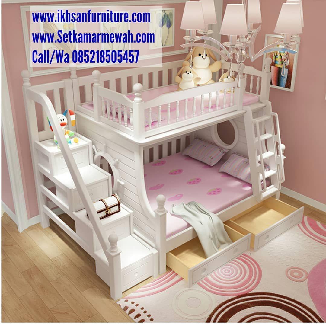 Ranjang Tingkat Anak Bedroom For Girls Kids Kids Bedroom Decor Bed For Girls Room Tempat tidur anak 2 tingkat