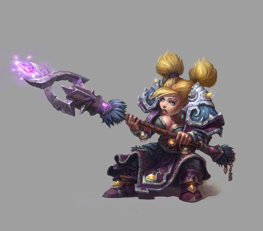 Gnome mage female by ~AntonZemskov on deviantART | World of Warcraft