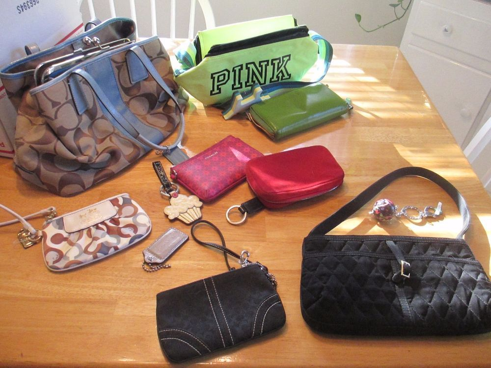 Authentic lot of 12 Coach wallets bag Micheal Kors VS Kate Spade Vera   CoachDooney  wristlet 5ce9719f6bfd4