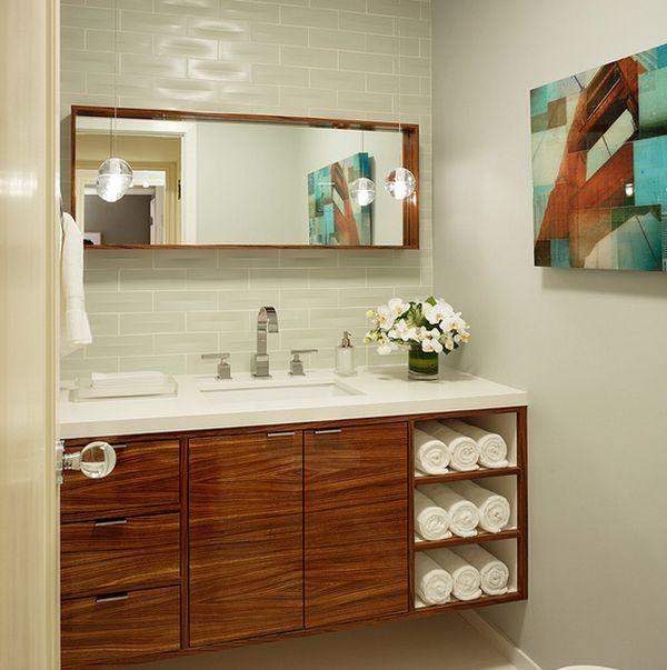 originelle einrichtungsideen im bad wie sie ihre badet cher mit stil aufbewahren einr. Black Bedroom Furniture Sets. Home Design Ideas