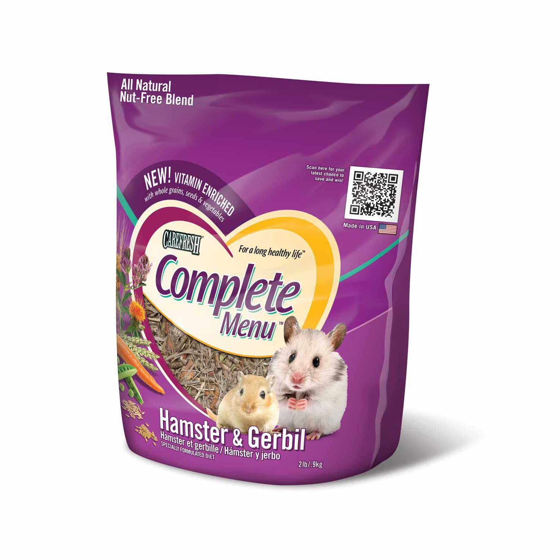 Carefresh Complete Menu Hamster Gerbil Food 2 Lbs A Nutritionally Complete Diet For Hamsters Gerbils Natural Ingredi Food Animals Hamster Food Hamster