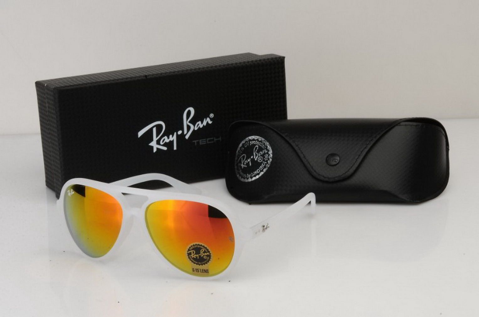 Picture front Fake Ray Ban RB8212 Aviator sunglasses with gray frame and p Ray  Bans Ray Bans ... c32bb70b4580