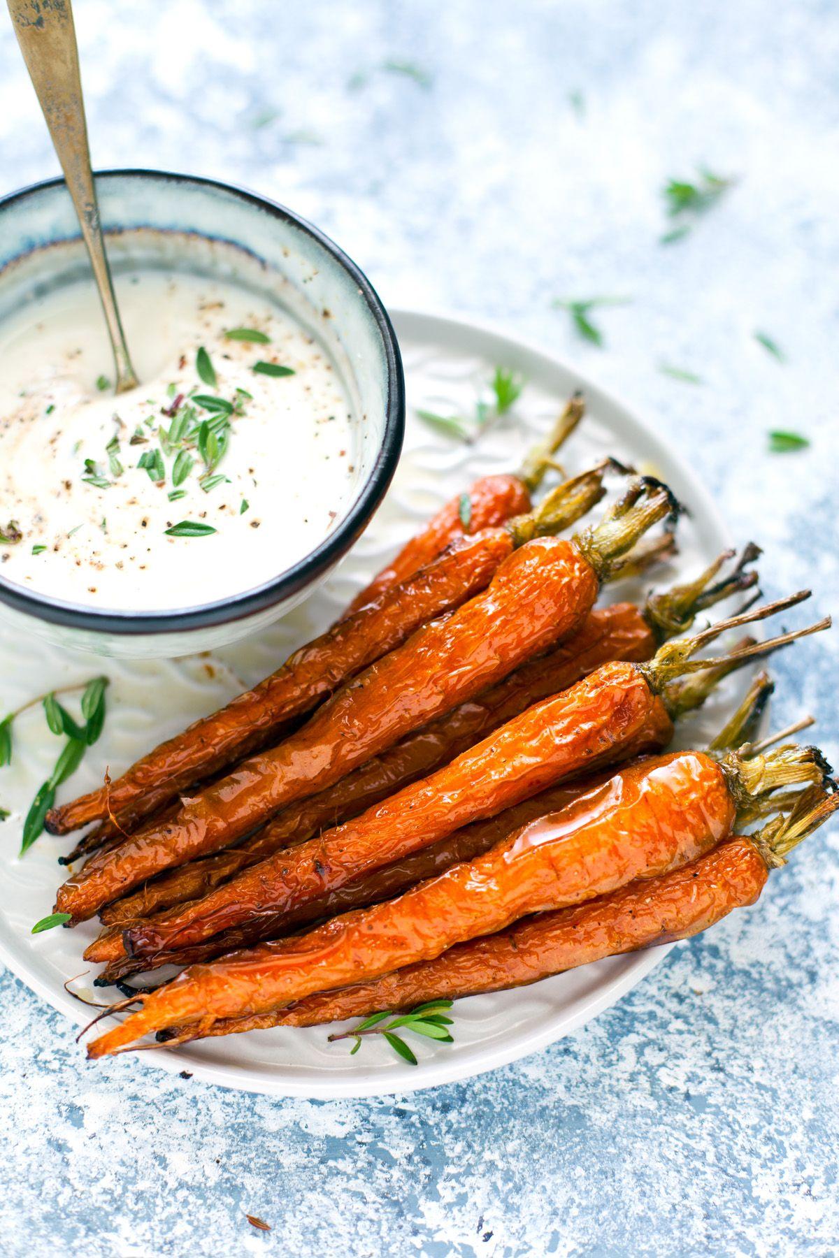 Carote con salsa allo yogurt ricetta recipe