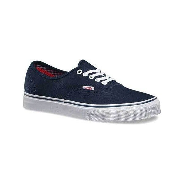 Vans Twill & Gingham Authentic Sneaker - Dress Blues/True White Casual.