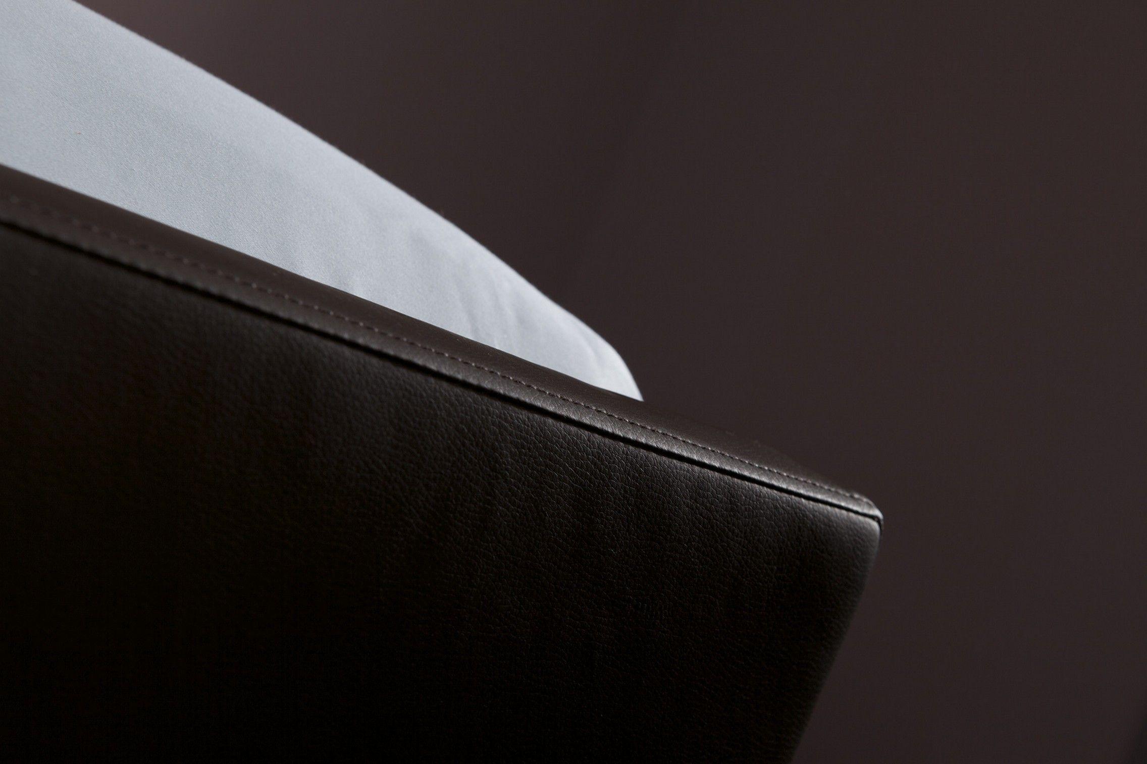 Hml bedding boxspring Forte met hoofdbord Lento en voetbord Staccato in kleur Crush 123 espresso / bruin leder look.