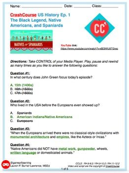 Grades 5 12 Crash Course Us History Ep 1 Native Americans Ccls