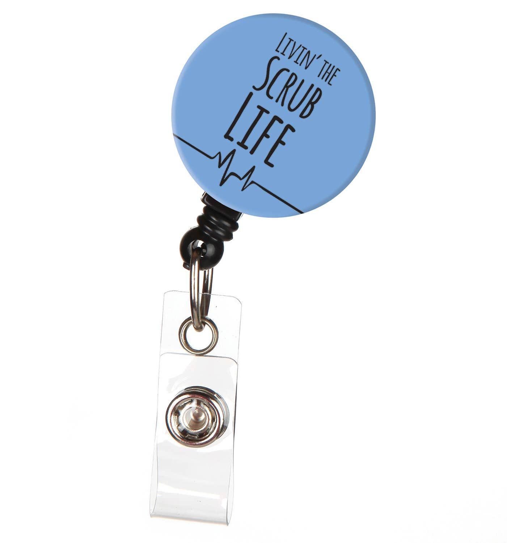Paw Badge Reel ID Pawprint Badge Reel Nurse Gift Retractable Badge Nurse Badge Pet Lover Badge Reel ID Badge Reel Nurses Badge Reel