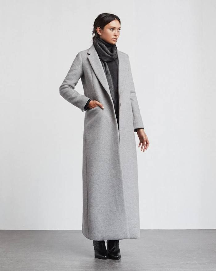 grey long coat | reformation | She's fashion | Pinterest | Gray ...