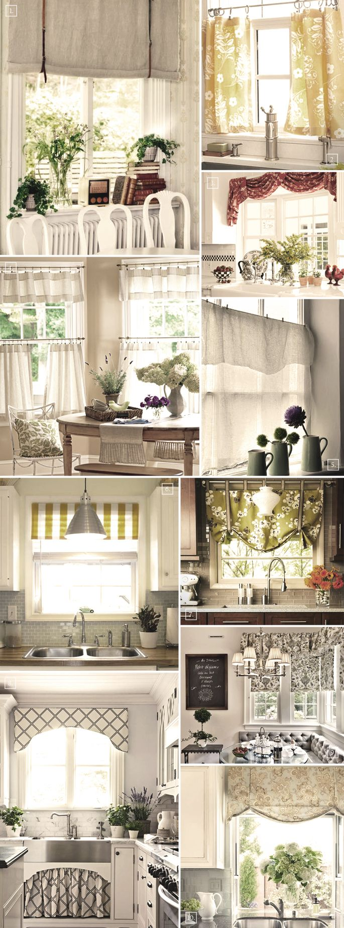 Decorating the windows with these kitchen curtain ideas - Curtain designs for kitchen windows ...