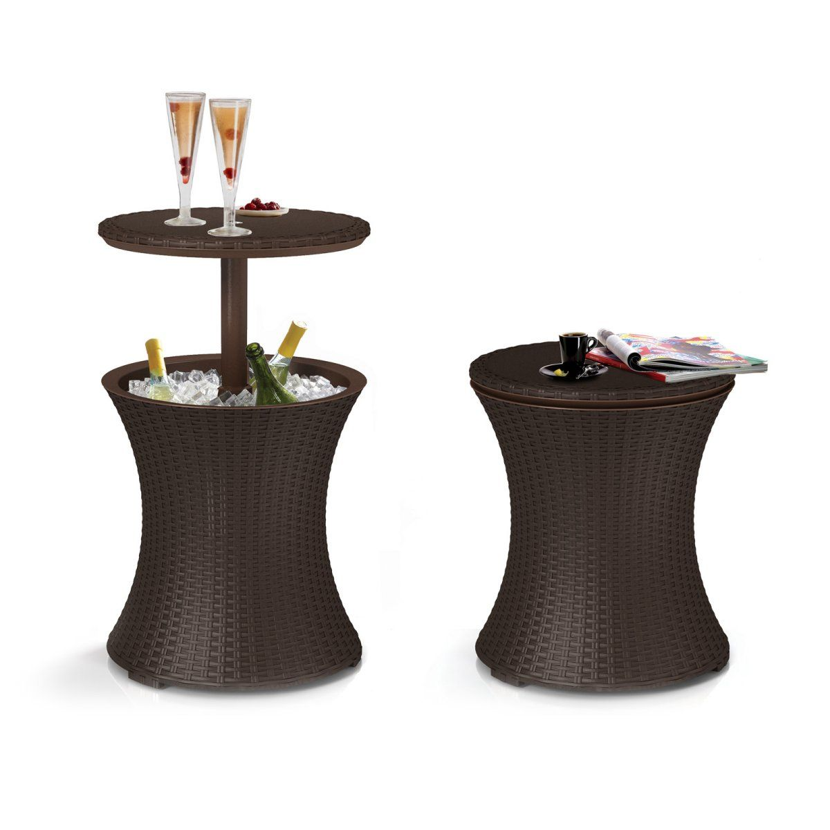 Keter Pacific Cool Bar Rattan Party Cooler at Hayneedle