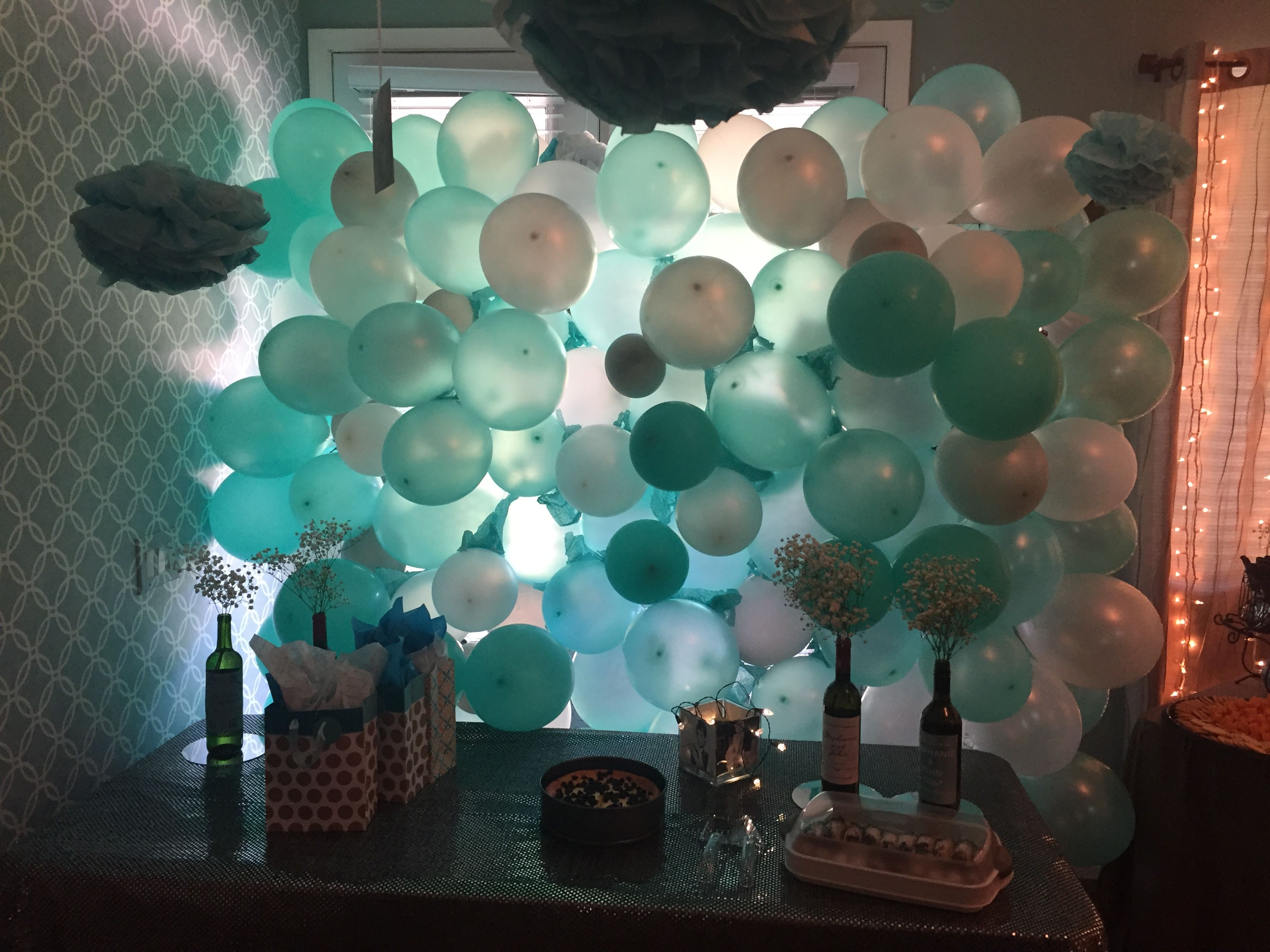 Balloon wall backdrop, made with pvc pipe & chicken wire... Thread ...