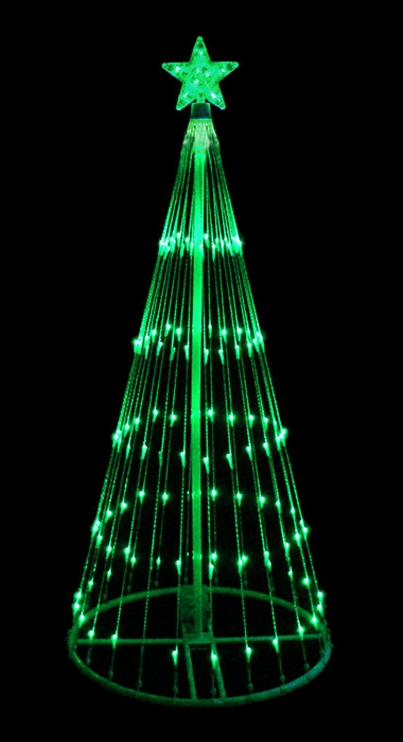 4\' Green LED Light Show Cone Christmas Tree Lighted Yard Art ...