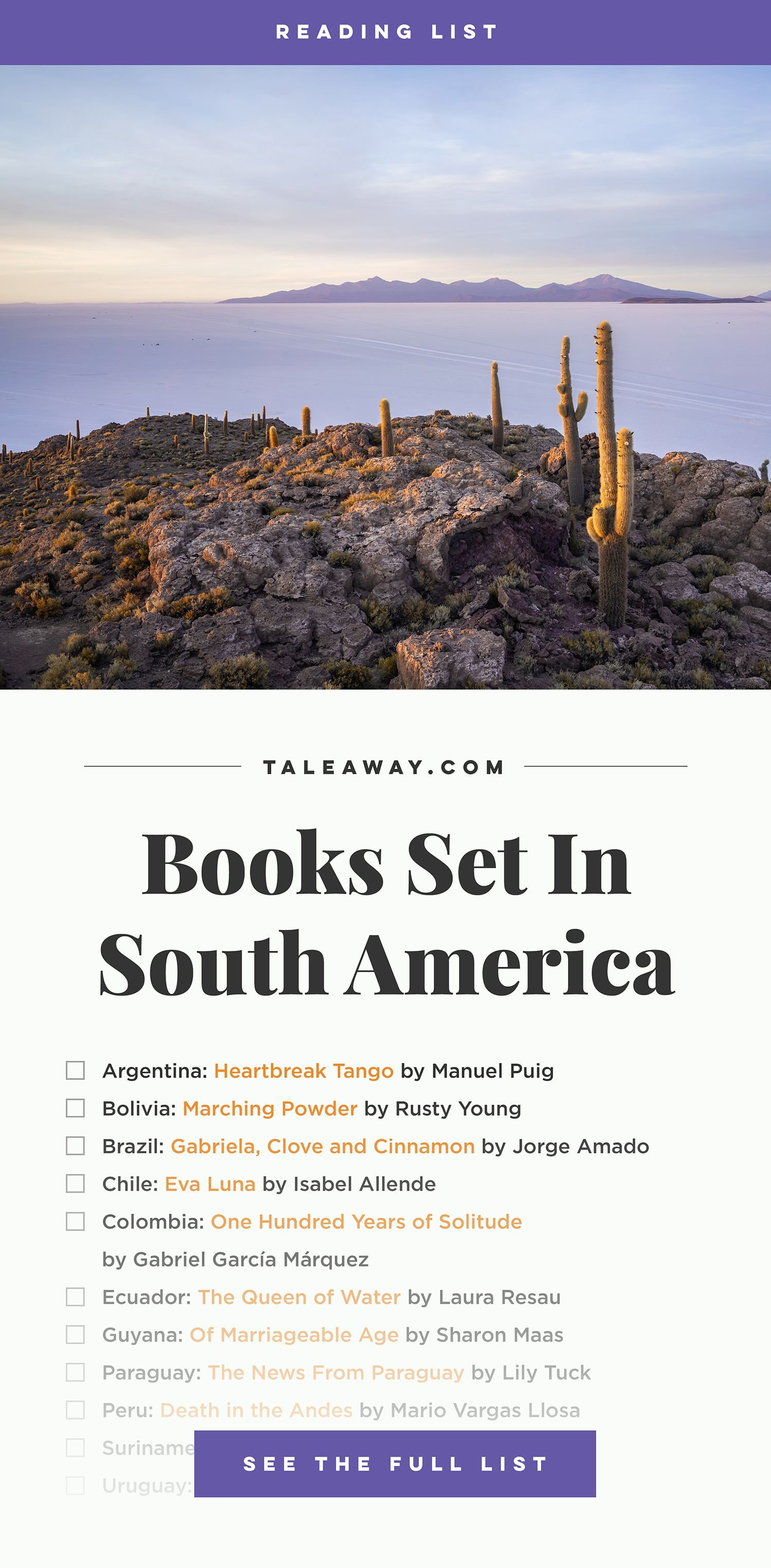 Photo of Books Set In South America: South American Novels – Tale Away