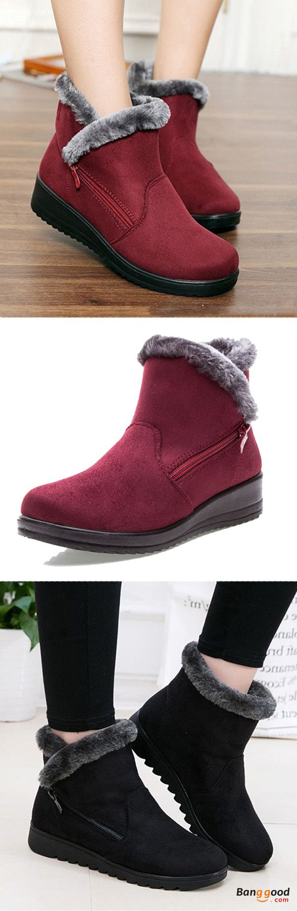 US$24.75 + Free shipping. New Large Size Women Winter Boots Round Toe Ankle Short Snow Boots. Snow Boots for fall-winter, Women's shoe boots, casual boots, winter style, fall winter shoes for women. Color: Black, Brown, Red. Get the look!
