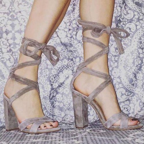 2f3af4961b7 Steve Madden Leg Around lace up Heels