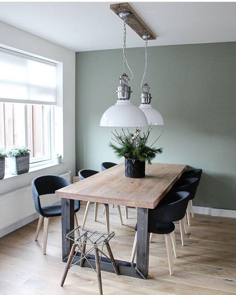 Photo of Stoelen bij eettafel + kleur muur (Histor middelpunt) #stoelen Stoelen bij eetta …