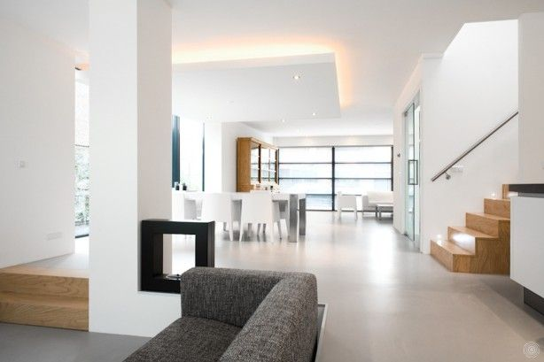 Gietvloer en split level great houses interiors