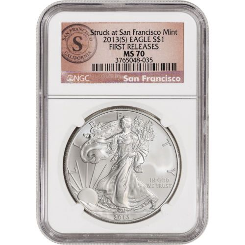 W American Silver Eagle NGC MS70 2015- New York Label Early Releases