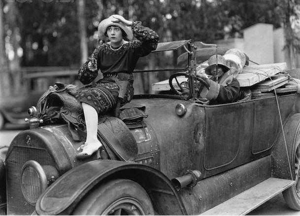 Dorothy Devore In Production Still For Hold Your Breath 1924