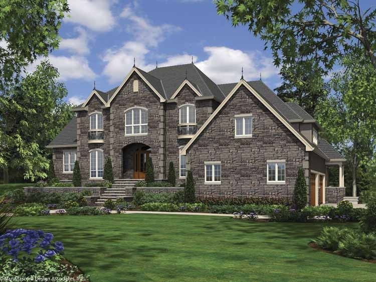 Eplans European House Plan - Four Bedroom European - 4888 Square Feet and 4 Bedrooms(s) from Eplans - House Plan Code HWEPL67336