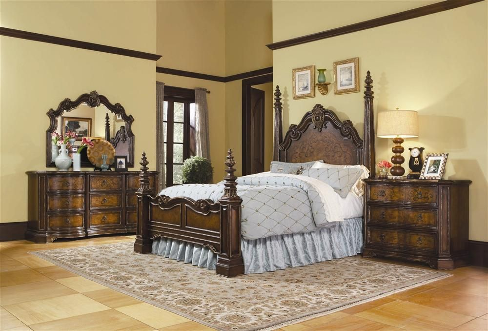 Fancy Bedroom Sets Enchanting Hooker Furniture  Beladora 3 Pc Poster Bedroom Set  Costuras Inspiration